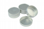Pack of 3 Push Lid Solid Aluminium Storage or Candle Making Tins. S7241